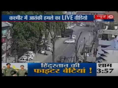 Video: Terrorists attacked a BSF convoy on Srinagar-Jammu National Highway