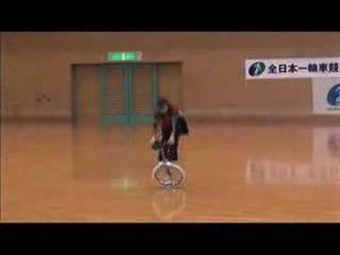 Chinese girl on unicycle