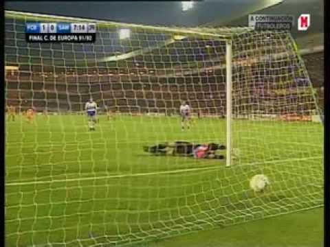 Free kick Ronald Koeman (European Cup final 91/92 - Barcelona vs. Sampdoria)