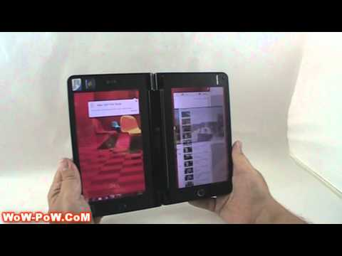 Toshiba Libretto W100 PALW100MNG Dual screen UMPC multi-touch review PT.# 2/2 [wow-pow]