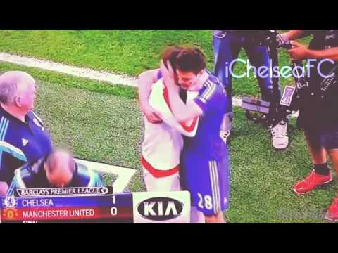 Juan Mata Hugs Every Chelsea Player after Chelsea Victory