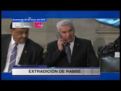 Guatemala solicita extración de Rabbé, quien se encuenta en México   30May