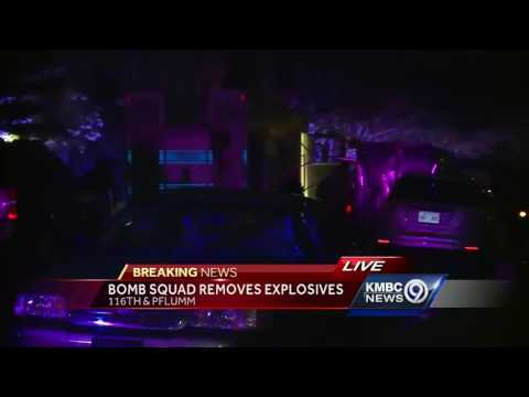 Explosives found in Overland Park home