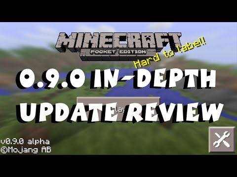 Minecraft Pocket Edition 0.9.0 Update Review iOS / Android / Kindle / Fire TV