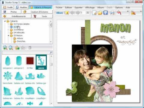 Studio-Scrap 3 - Introduction au logiciel de Scrapbooking