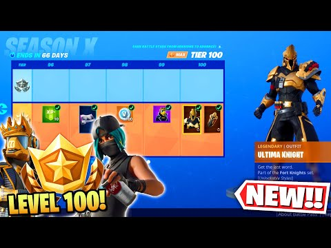 Fortnite Season 10 level 100 Max Battle Pass + NEW Changes! (Fortnite Battle Royale Season X)