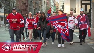 Habs fans enjoy a playoff parade in New York City
