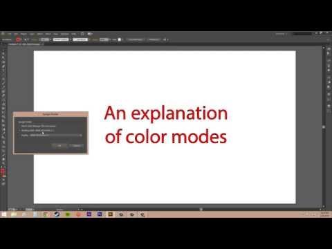 Adobe Illustrator CS6 for Beginners - Tutorial 40 - Color Modes