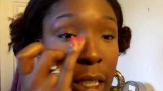 MAKEUP FOUNDATION APPLICATION TUTORIAL ON DARK SKIN BLACK WOMAN