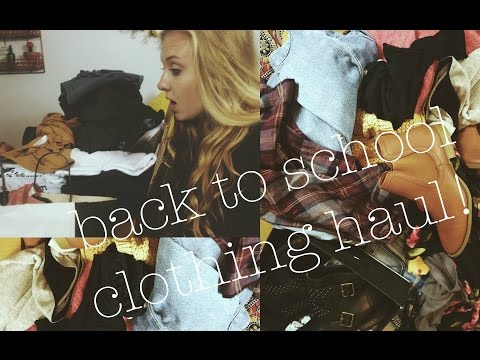 BACK TO SCHOOL CLOTHING HAUL♡
