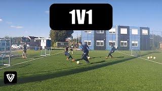 1v1 drill football / soccer drill + first touch - Duel 1 tegen 1 - Thomas Vlaminck Techniektraining