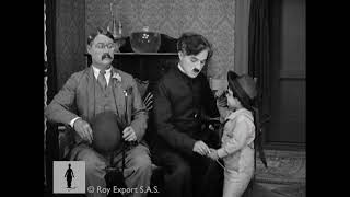 Charlie Chaplin with spoiled brat - Clip from The Pilgrim