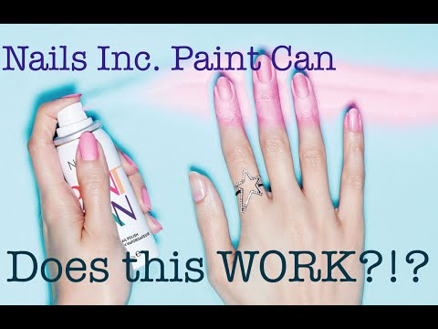 Nails Inc Spray Can Nail Polish First Impression + Review!