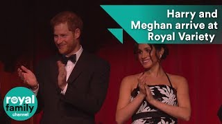 Harry and Meghan arrive at the Royal Variety Performance
