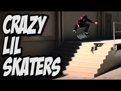 CRAZY LIL SKATER KIDS STRIKE AGAIN !!! - A DAY WITH NKA -