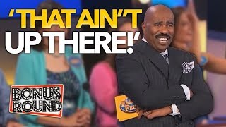 5 UNEXPECTED FAMILY FEUD ANSWERS That WERE On The Board! Steve Harvey Can't Believe It! Bonus Round