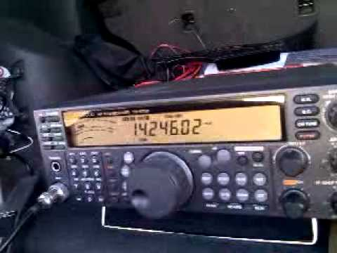 Alpha MOTO Jr Mobile Antenna - QSO on 20 Meters