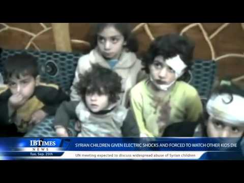 Syrian children given electric shocks and forced to watch other kids die