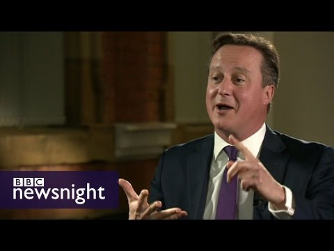 David Cameron party conference interview - Newsnight