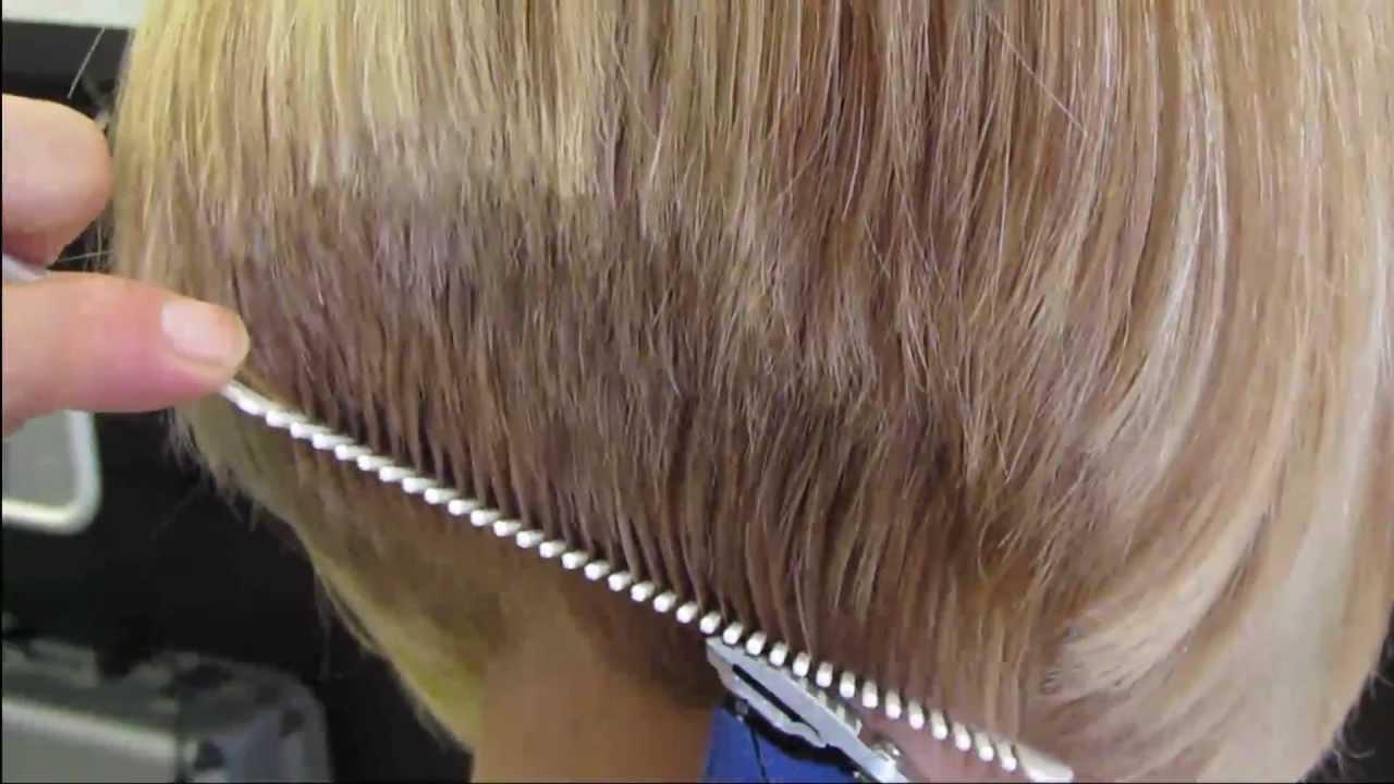 Andis clipper haircut Bobbie's graduated bob haircut HD video ...