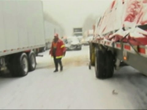 59 Vehicles Crash in Snowy Pileup in PA