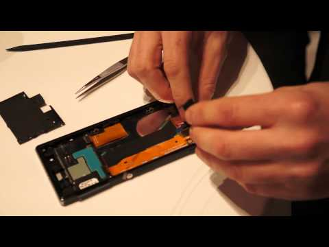 Sony Xperia Z1s teardown demo: disassembled device reassembled in 30 minutes