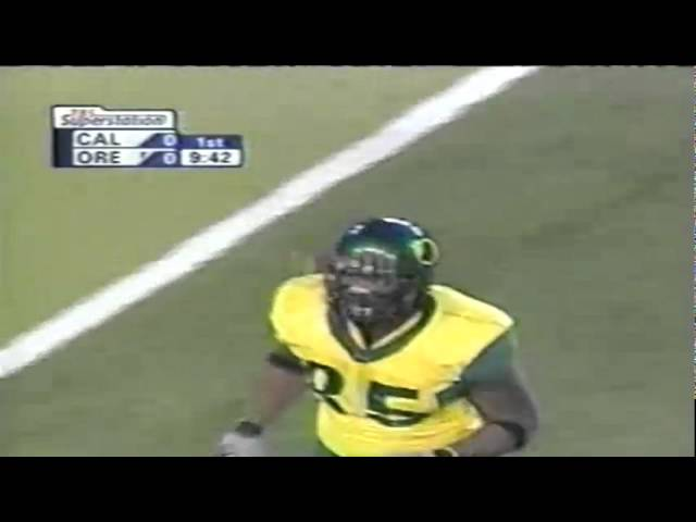 Oregon TE Tim Day 13 yard catch vs. Cal 11-08-2003