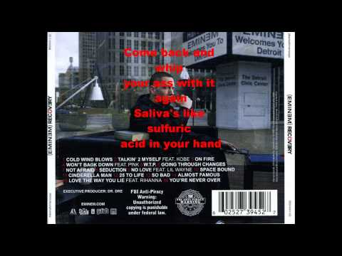Eminem- On Fire (Dirty) Lyrics in video