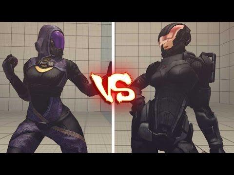 Ultra street fighter 4 PC - Tali'zorah vs commander Shepard female 60 FPS