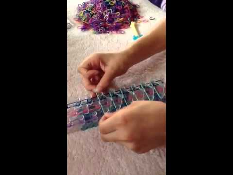 How to make a rainbow loom triple bracelet