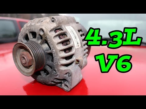 DIY How to Remove Replace ALTERNATOR 4.3L (1997-2006 Chevy Truck)