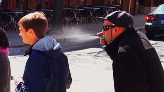 Sneezing On People Public Prank
