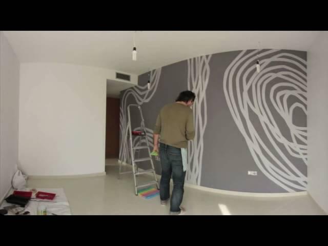Una obra de arte en la pared del dormitorio (en 2 minutos)