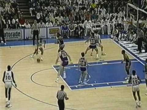 Utah Jazz have gone on a run trying to prevent getting sweeped by the Golden State Warriors. But Manute Bol wouldn't let that happen by making a clutch three...
