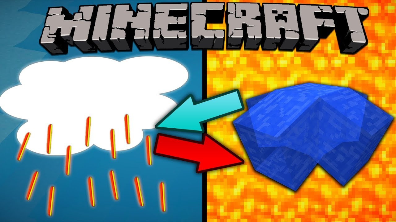 If Rain and Lava Switched Places - Minecraft