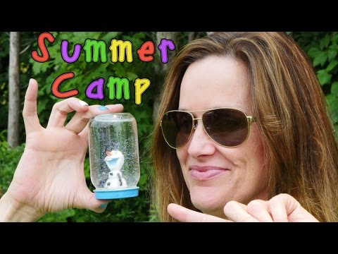 OLAF Snow Globes Do It Yourself Disney Frozen Glitter Globes Learning at DCTC Summer Camp
