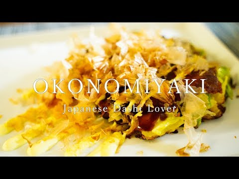 [ASMR COOKING] How to make Okonomiyaki(Kansai Style) / 関西風お好み焼き - Japanese cuisine