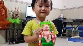 Trò Chơi Lắp Ráp Xe Đẩy Em Bé Với Đồ Chơi Lắp Ráp Kỹ Thuật   Kids Toy Media