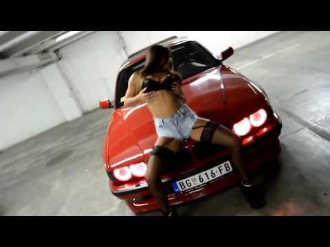 Sexy girl loves BMW