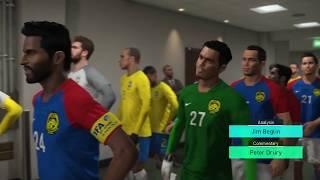 PES2018 - MSL2018 V3 - MALAYSIA vs BRAZIL (PS4)