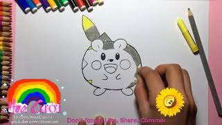 How To Draw A Togedemasu    Pokemon for Kids step by step Coloring Pages Learn Colors Childrens