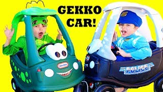 PJ Masks NEW GEKKO Assistant CAR with Dino Cozy Coupe