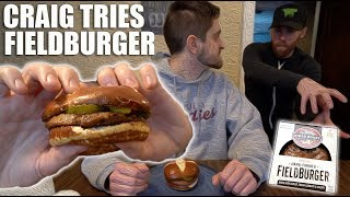 Craig Tries the Field Burger For First Time