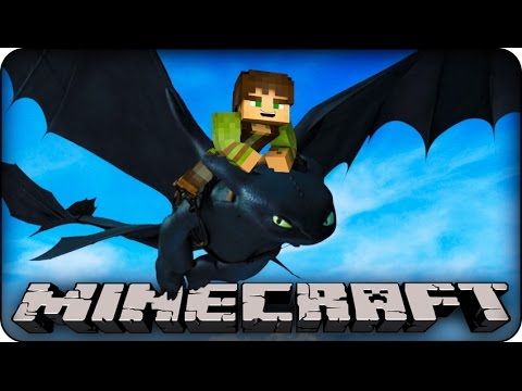 Minecraft Mods HOW TO TRAIN YOUR DRAGON Modded Minigame Dragon Mounts Mod