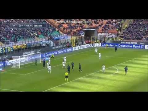 Goal • Nemanja Vidic • Inter - Genoa 3-1 • HD