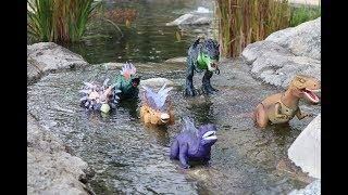 Toys Dinosaur Family  Walking movement ,T-REX,play for kids Çocuk oyuncakları dinozorlar oynamak