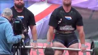 700KG TEAM DEADLIFT - TERRY HOLLANDS AND EDDIE HALL - ULTIMATE STRONGMAN - MAY 2014
