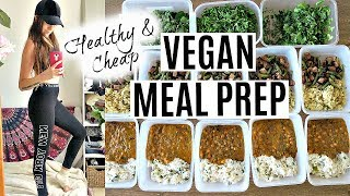 WEEKLY VEGAN MEAL PREP ON A BUDGET! // Healthy, Easy & Delicious