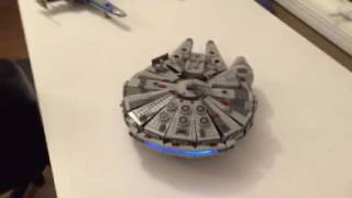 Lego falcon teaser with LEDs
