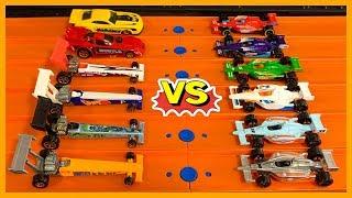 Hot Wheels Indy Cars vs Drag Cars Tournament Race